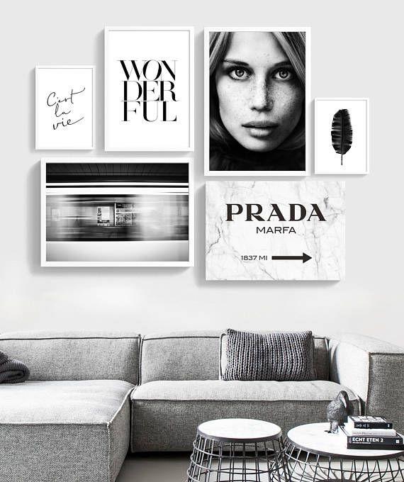 Fashion Poster Set Set Of 6 Prints Fashion Set Print Printable