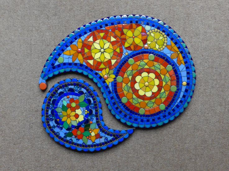 My paisley mosaic for the BAMM exhibition at Cirencester