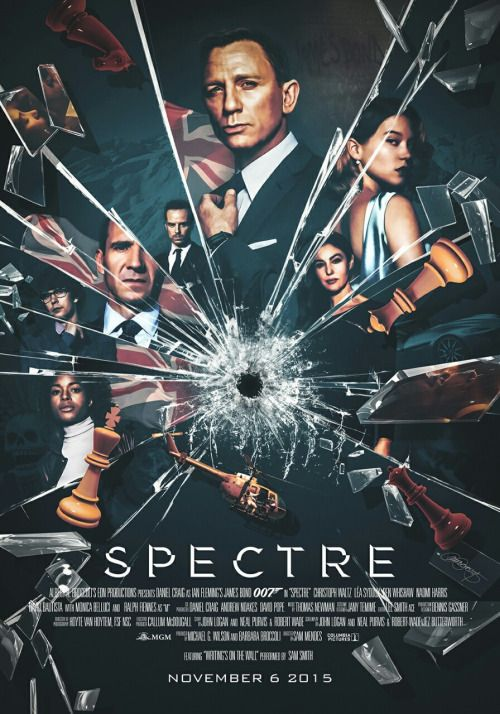 lauraracero-portfolio: Alternative poster for Spectre. Digitally painted, assembled and textured in Photoshop, using promo pictures and photos from the shooting as reference. More details: http://lauraracero.com/portfolio/spectre/ Limited edition art print available on my store: http://lauraracero.com/store/