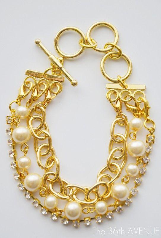 Bracelet #StyledbyToriSpelling #DIY #Jewelry #gold #pearl