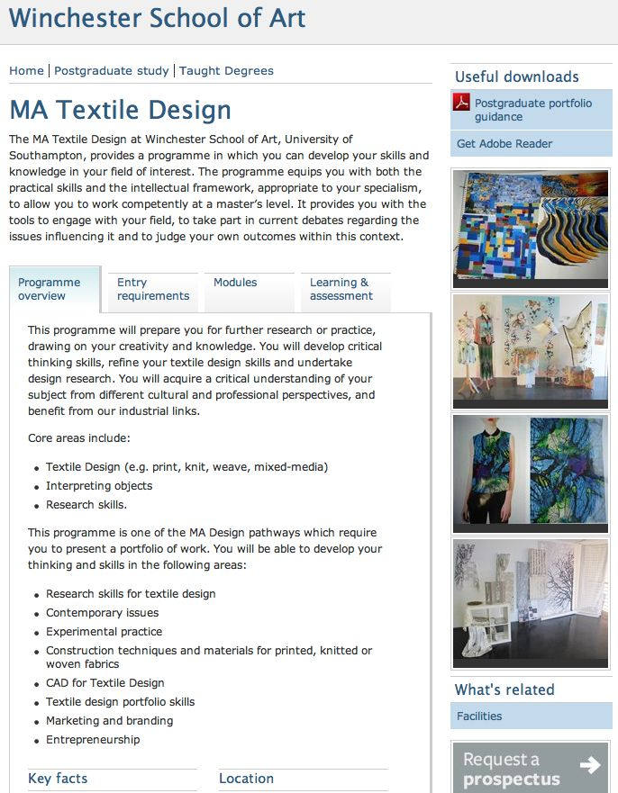 MA Textile Design