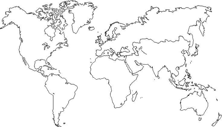 Planisphère à compléter - image à imprimer #3