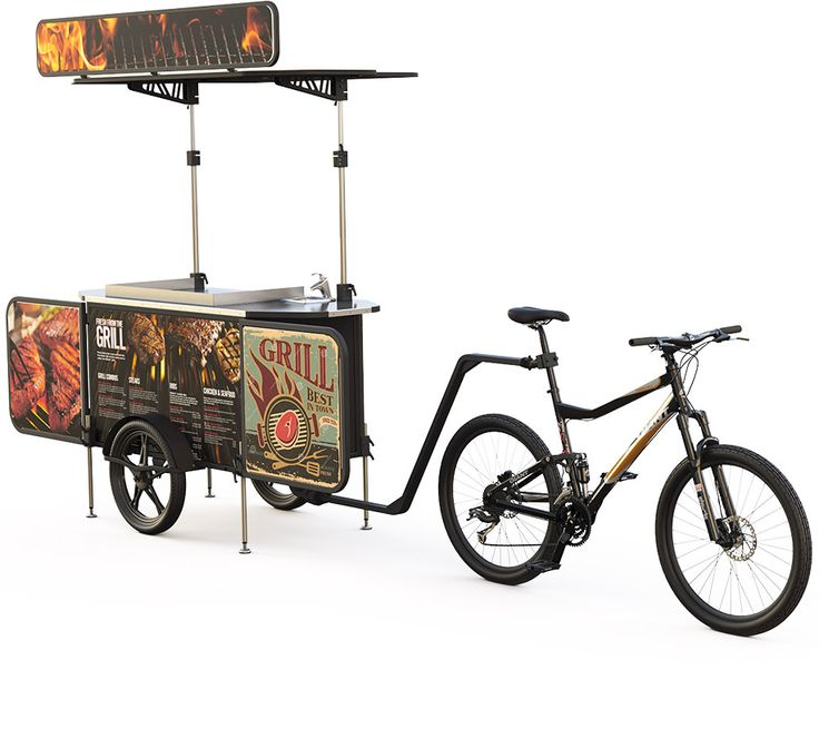 Start your bicycle burger business right now. Is low cost, ecofriendly and can be very proffitable.