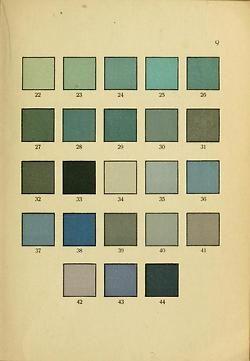 Color tables for stamp collectors, Schwaneberger, Farben-Tafein für Briefmarkensammler, 1922