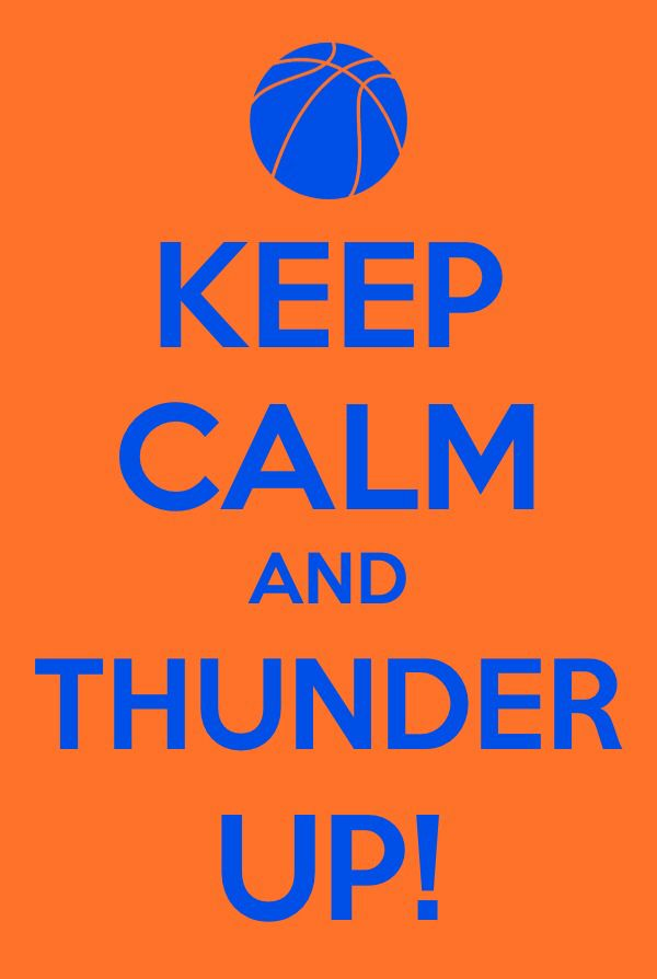 Thunder up!! #okc #thunder