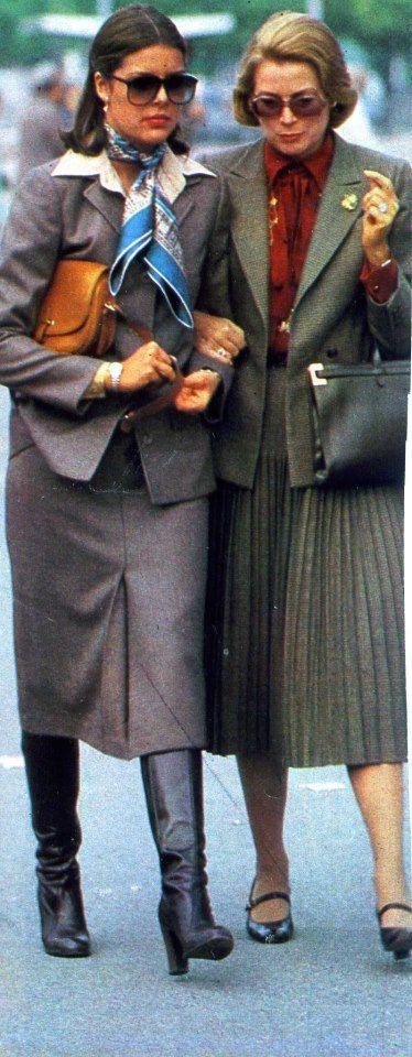Princess Caroline and Her mother, Princess Grace