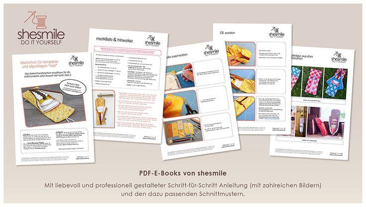"""Täschchen für Slipeinlagen und Tampons """"Rosi"""" (Nähanleitung & Schnittmuster) - shesmile, Do it Yourself"""