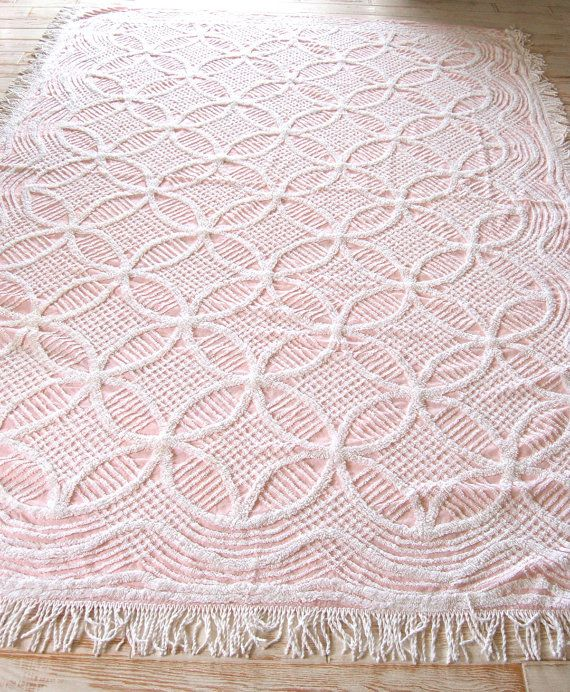 Chenille Bedspread Pink Chenille Bedspreads by TheDesigNest, $60.00