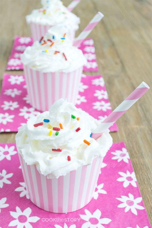 Cupcake Milkshakes (little shakes that look like little cakes)