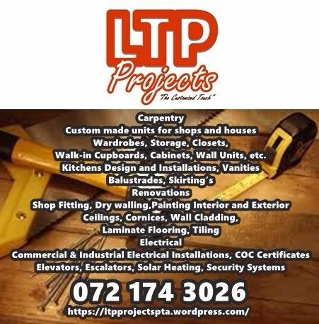 LTPProjects have decided to put together a team of professionals to assist clientswith all their renovation projects.  Ourbusiness is built on four pillars of excellence:  quality, service, experience and value formoney.  Our consultants have many yearsof experience and proven track records and thoroughly understand the dynamicsand technicalities of our client's needs. Depending on a client's requirements, all our work is done from plan andmeasured on site.  We design wall andfloor layouts…