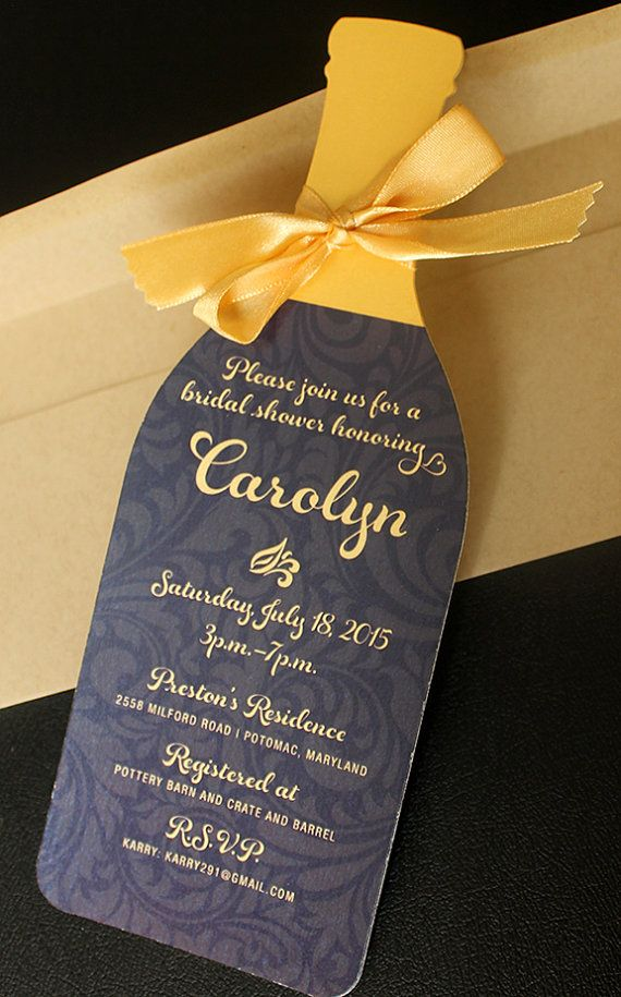 Wine Bottle Invitation  Die cut Wine bottle by Diecutslovepaper