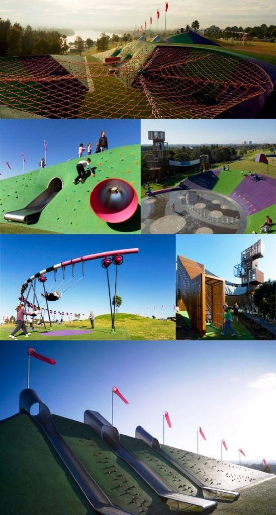 Самые красивые и креативные детские игровые площадки в фотографиях.