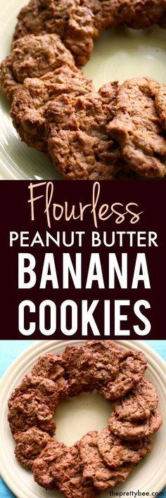 Flourless Peanut Butter Banana Cookies.