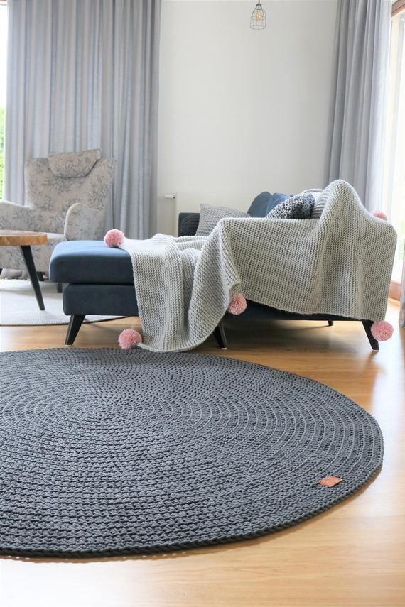 Moderne dunkelgrau Runde Teppich Runde Teppich Kindergarten ...