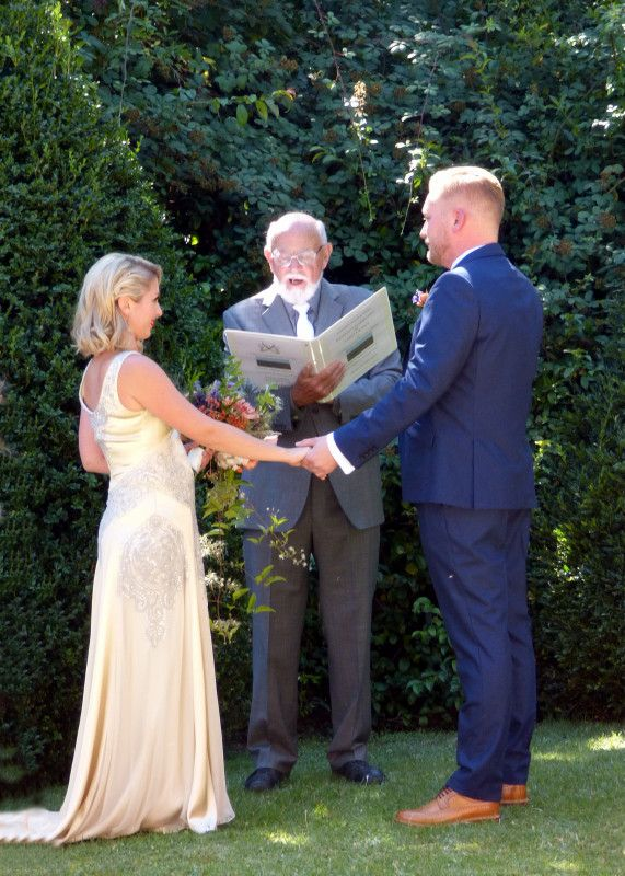A chateau garden ceremony at Camon  August 2016 Photograph by Cherry Thatcher