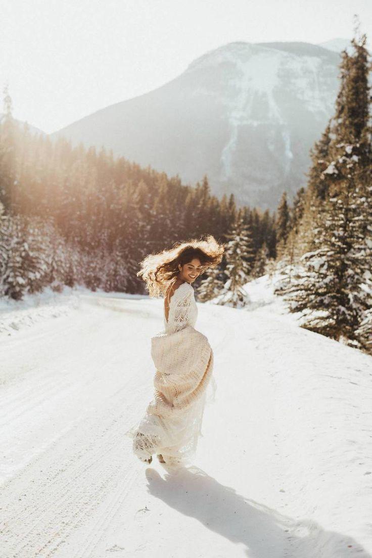 Boho Winter Bridals / / Alberta Abenteuer über Rocky Mountain Bride   – w e d d i n g / e l o p e m e n t