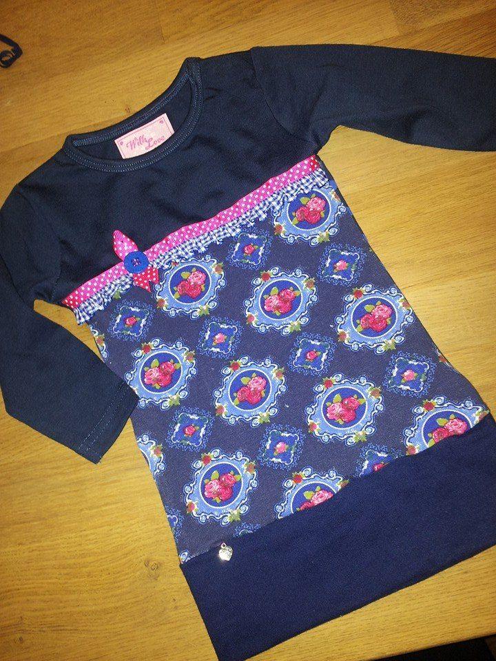 Leuk t-shirt jurkje. (Lien meisjeskleding)