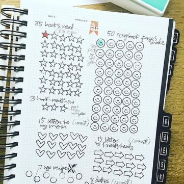 goal setting bullet journal page