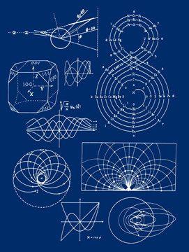 Electrical Sound Waves Schematic Diagram Tech Plans Blueprint Design Geek Minimalist - Digital Image - Vintage Art Illustration