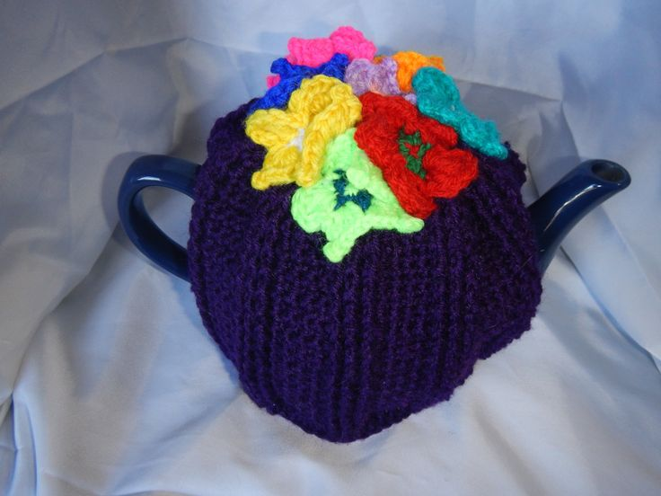 Garden of Pansies Tea Cosy (4 cup tea pot) by WinterSunflower45 on Etsy