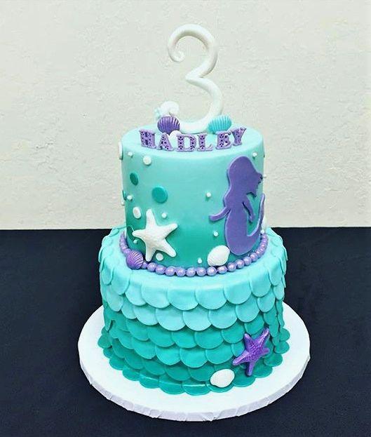 Mermaid Fondant Cake Cake Decorating Ideas Pinterest