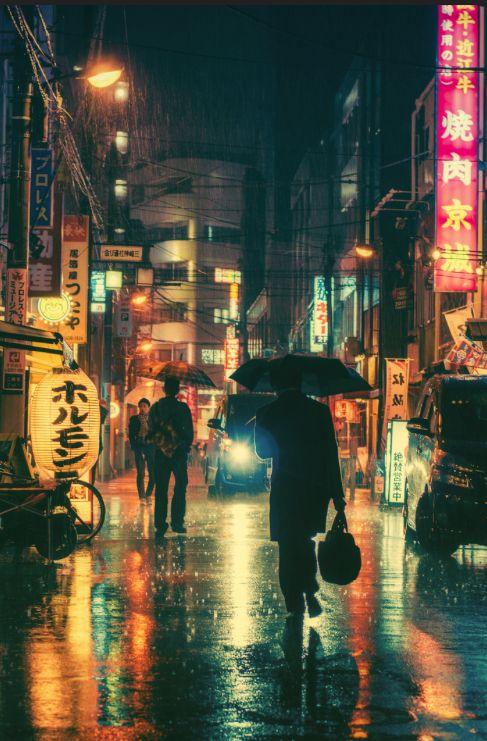 Rainy Night In Tokyo by Masashi Wakui