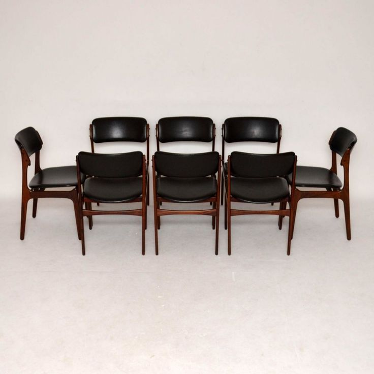 Danish Rosewood Dining Chairs Erik Buch For Sale London