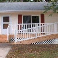 Learn how to build an ADA accessible wheelchair ramp onto your deck to meet building codes.  Ramps must have a 1:12 slope.