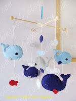 Stuffed Whale Mobile Tutorial