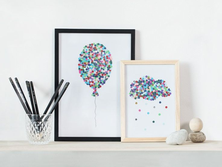 DIY – Illustrations with hole puncher by Søstrene Grene