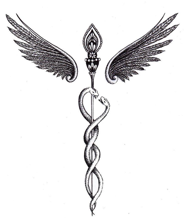 caduceus tattoo - Google Search                                                                                                                                                                                 More