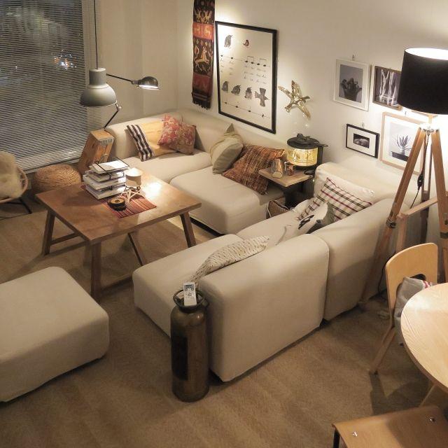 ニトリ/IKEA/額/ポスター/照明/無印良品…などのインテリア実例 - 2015-12-05 17:09:10 | RoomClip(ルームクリップ)