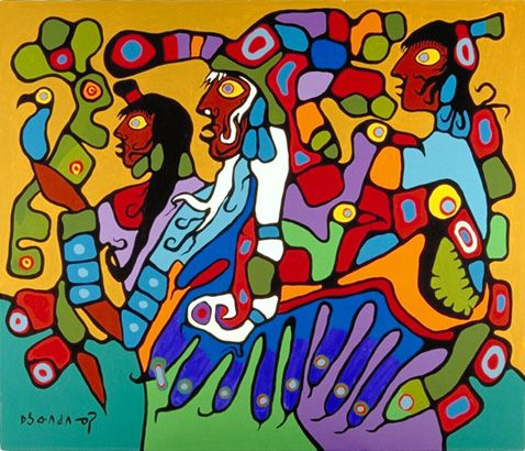 Norval Morrisseau - Shaman and Disciples