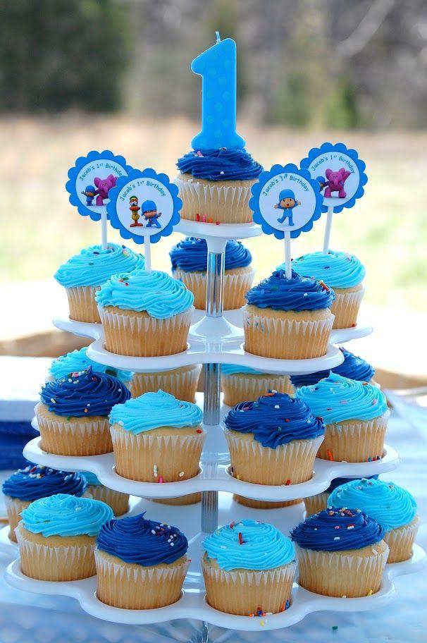 Pocoyo Cupcakes                                                                                                                                                      Más