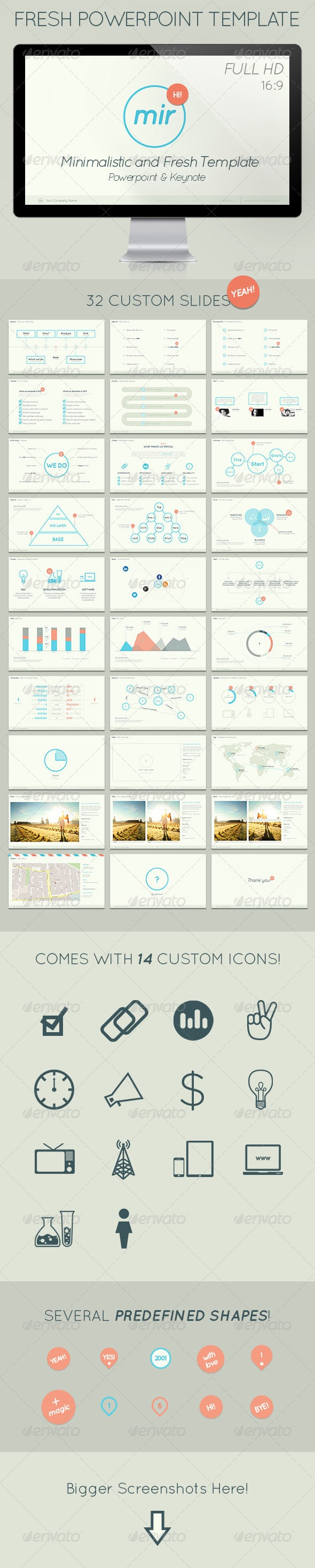 Mir - Minimalistic and Fresh Powerpoint Template