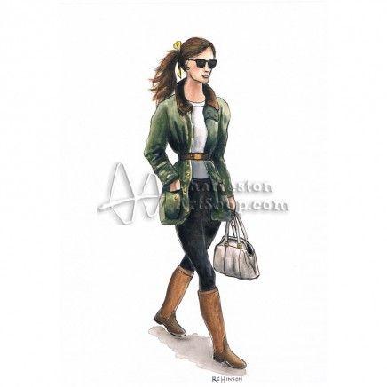 So love my Barbour jacket girl available at CharlestonArtShop.com