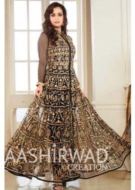 Black Georgette,Net Anarkali Suit, - £114.00, #IndianDresses #AnarkaliSuit #OnlineDresses #Shopkund