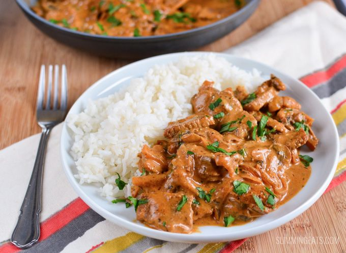 Slimming Eats Syn Free Beef Stroganoff - gluten free, dairy free, paleo, Slimming World and Weight Watchers friendly