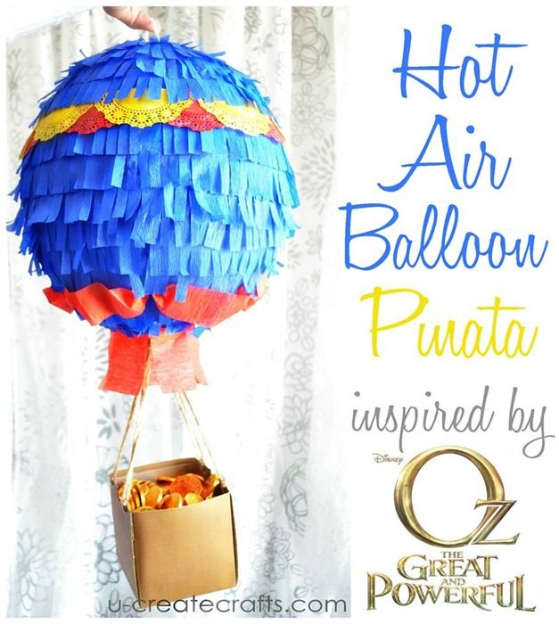 How to Make a Hot Air Balloon Pinata at u-createcrafts.com This is awesome!