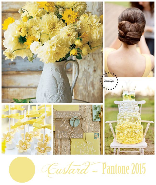 Custard - Pantone 2015 | more on www.bridetips.ru