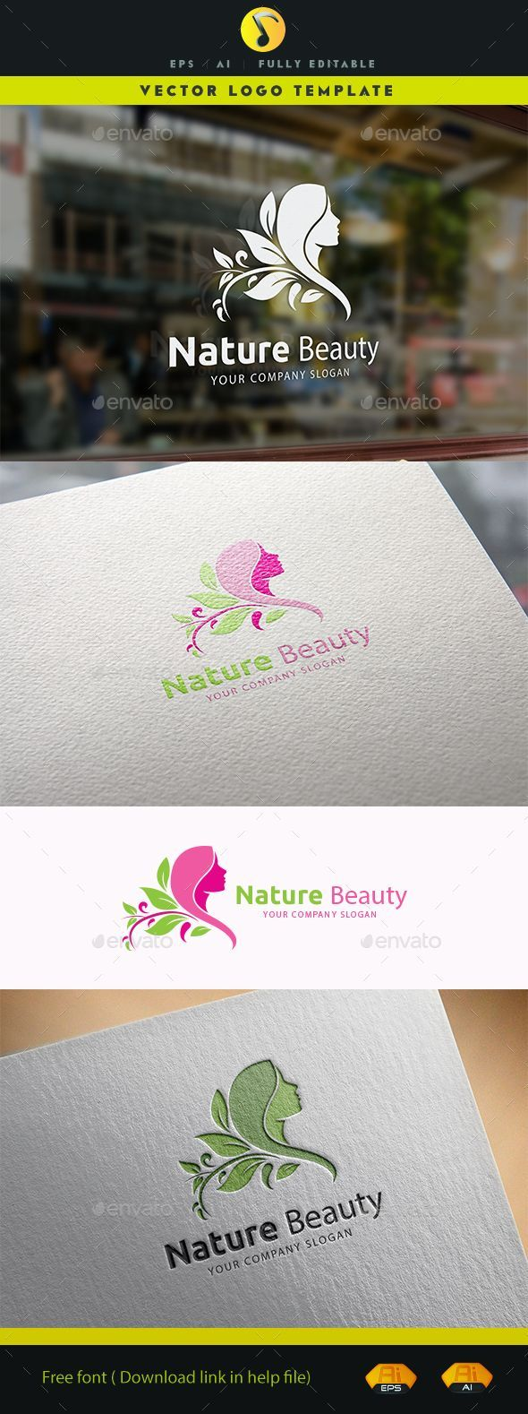 Nature Beauty  Logo EPS Template • Download ➝ https://graphicriver.net/item/nature-beauty/14065740?ref=pxcr