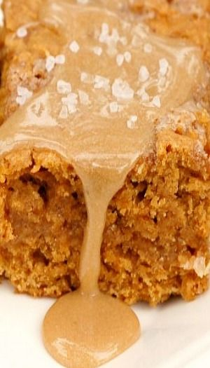 Salted Caramel Pumpkin Bars #delicious #recipe #cake #desserts #dessertrecipes #yummy #delicious #food #sweet
