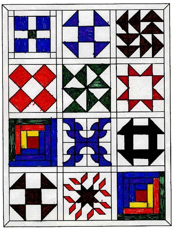 Quilt Patterns Used During The Underground Railroad : 17 Best images about Underground Railroad Quilt Blocks on Pinterest Underground railroad ...