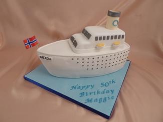 Boat Birthday Cakes For Men