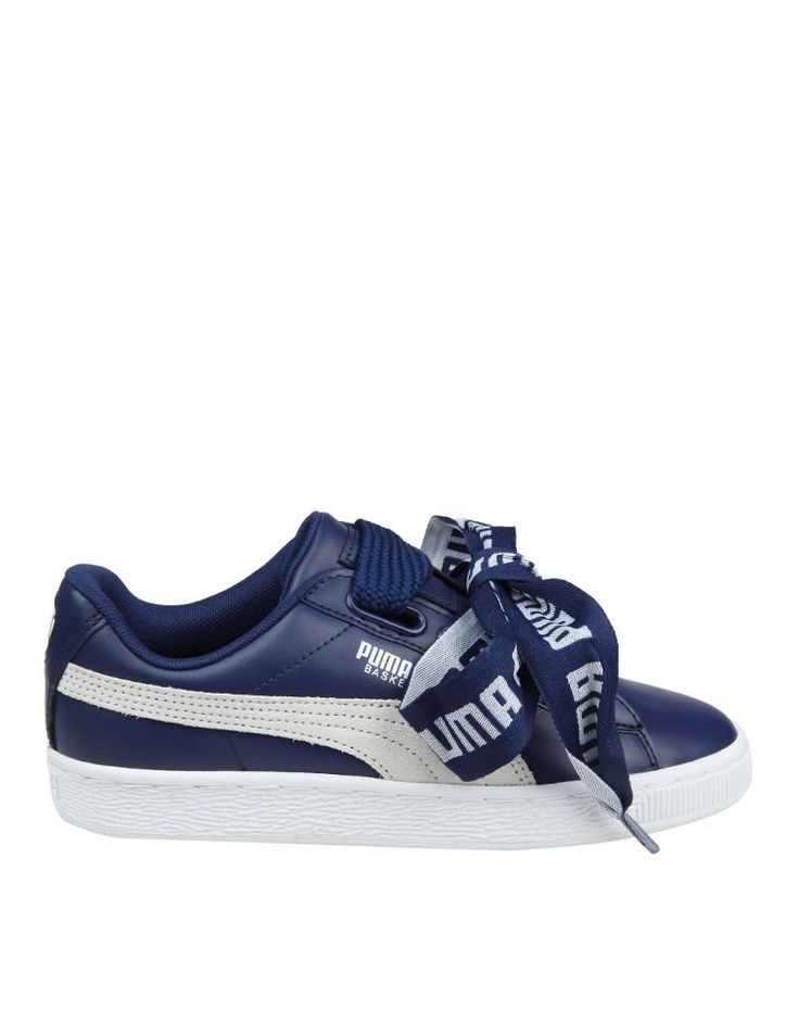PUMA SNEAKERS BASKETBALL HEART IN SKIN COLOR BLUE. #puma #shoes #