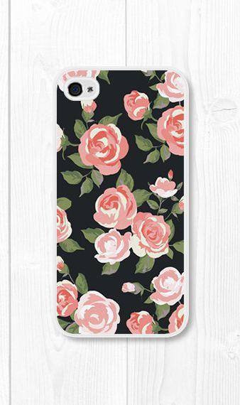Coral Peach Floral iPhone Case