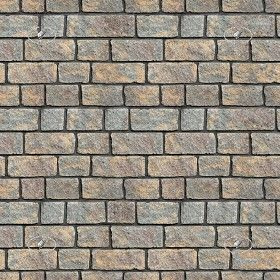 Stone walling with aged face finish - texture seamless+ maps - pixel 2500 x 2500 - cm 88 x 88