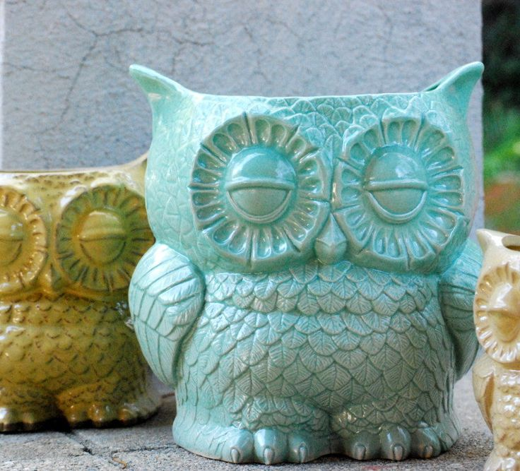extra large ceramic planter owl kitchen utensil holder by claylicious on Etsy https://www.etsy.com/listing/161963815/extra-large-ceramic-planter-owl-kitchen