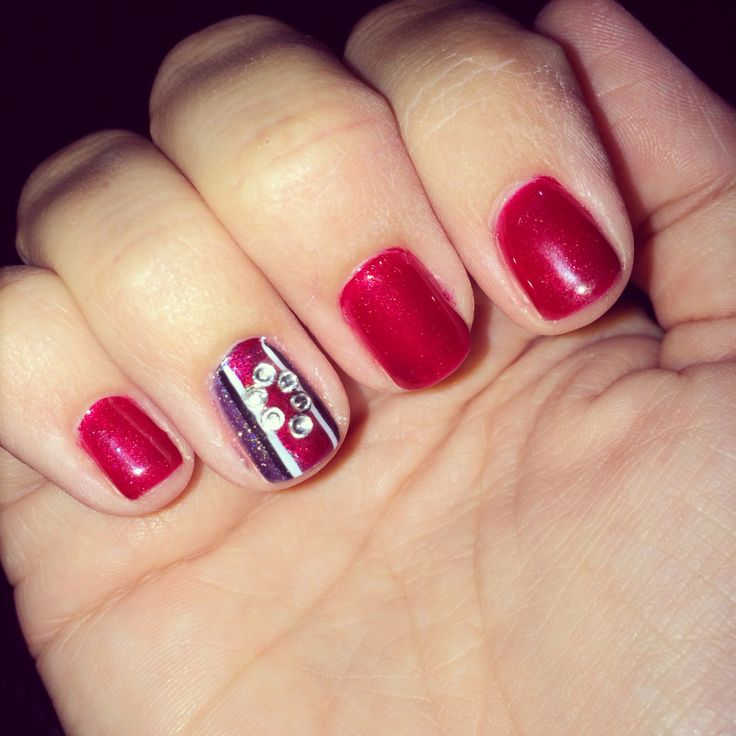 Ohio State Buckeyes nails