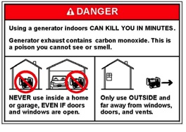 Many East Coast residents are still without power - please exercise extreme caution if using generators. REPIN to help keep friends and family safe in the wake of Hurricane Sandy.